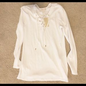 Michael Kors Lace Up Blouse (NWT)